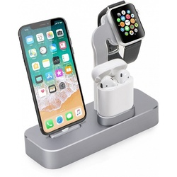 Док-станция для Apple iPhone, Watch, AirPods (COTEetCI Base19 CS7201-GY) (серый)