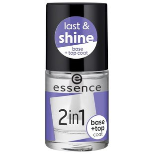 Базовое и верхнее покрытие Essence 2in1 Base & Top Coa 8 мл