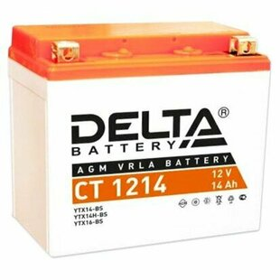 Мото аккумулятор DELTA Battery CT 1214 (YTX14-BS / YTX14H-BS / YTX16-BS)